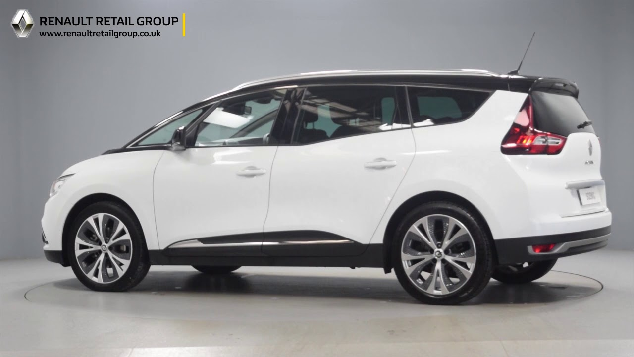 renault grand scenic dynamique s white black roof youtube. Black Bedroom Furniture Sets. Home Design Ideas
