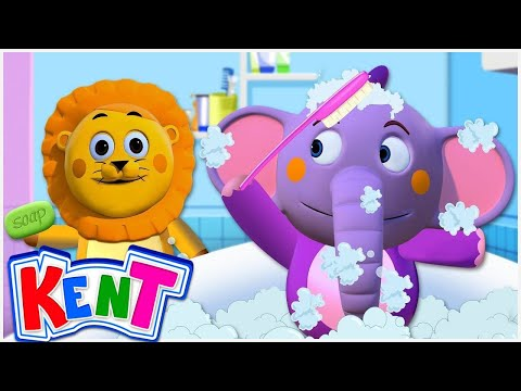 Kent's Bath Song + More Nursery Rhymes and Kids Songs - Kent The Elephant