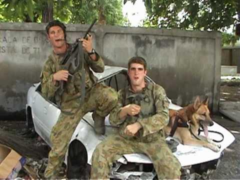 Australin soldiers on patrol East Timor