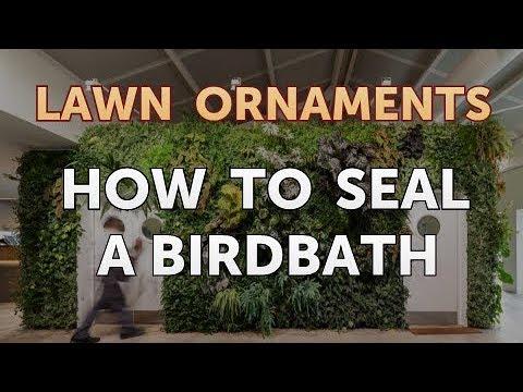 How To Seal A Birdbath