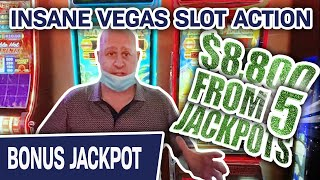 🍀 Lucky $8,800 from FIVE JACKPOTS 🍸 INSANE Slot Action @ Cosmopolitan Las Vegas