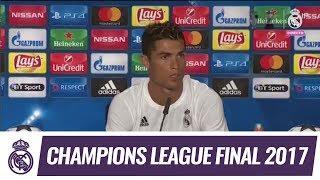 Cristiano Ronaldo ante los medios tras ganar la Duodécima y el MVP de la Final