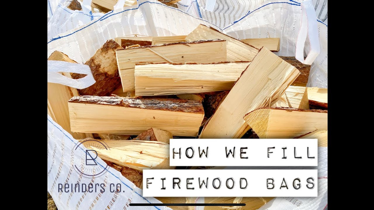 How we fill our Firewood Bags with a firewood processor