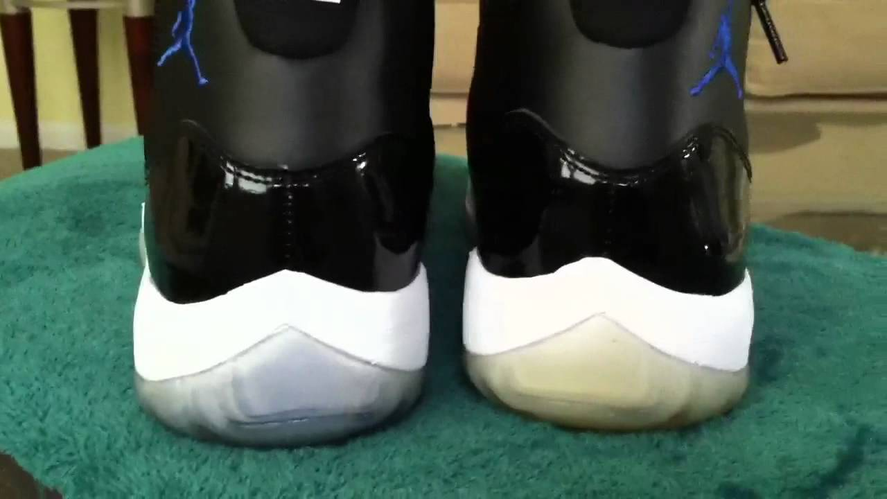 air jordan 11 space jams icy sole cleaner