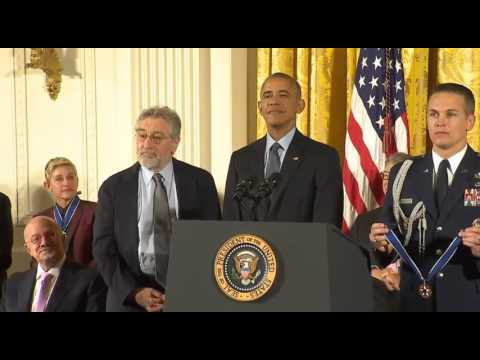 Robert De Niro Presidential Medal of Freedom 2016