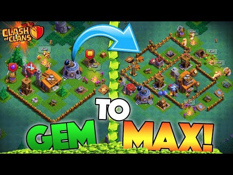 GEMMING NEW BUILDER HALL TO MAX! EP1 - Clash of Clans NEW UPDATE UPGRADING!