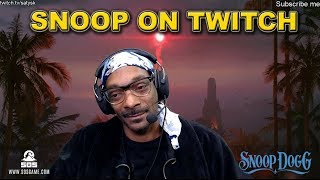 Snoop Dogg on Twitch   Playing SoS game