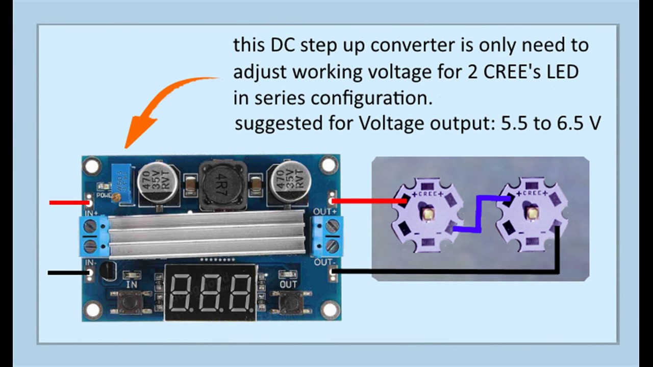 Cree Led Driver Using Step Up Converter Buck Youtube Boost With Output 12v Electronics Forum Circuits Projects And
