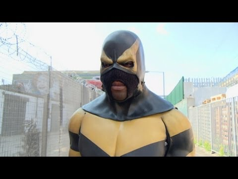 Real Life Superhero Phoenix Jones Visits The UK