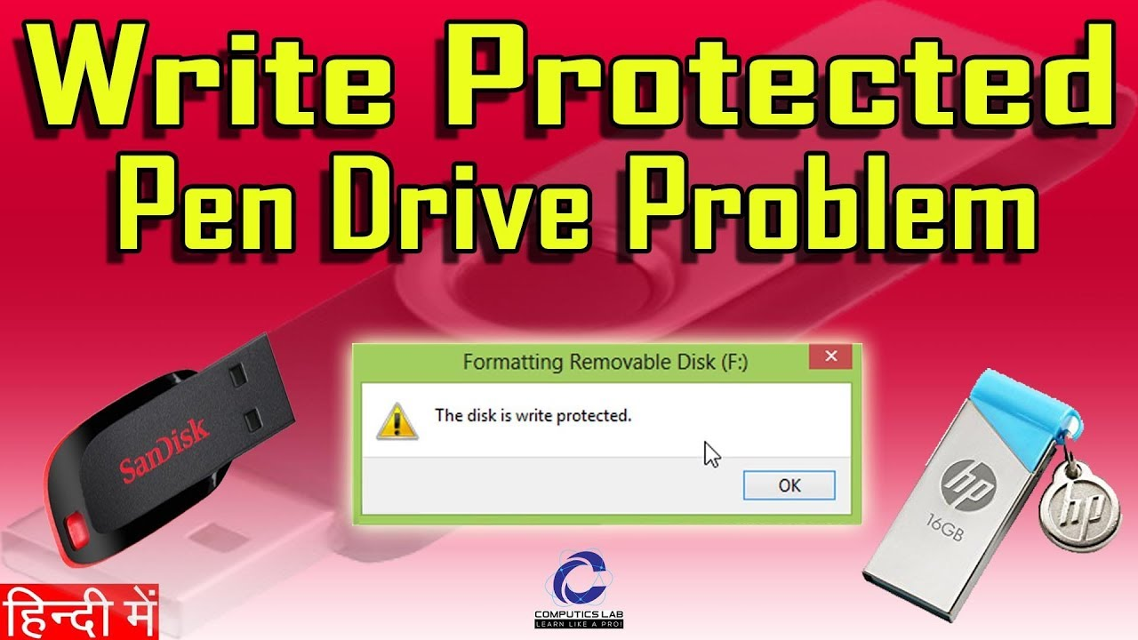 18% Solved Pen Drive Write Protection Error  How to solve Write  Protection on memory card ???