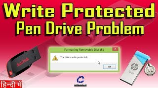 100% Solved Pen Drive Write Protection Error | How to solve Write Protection on memory card ???
