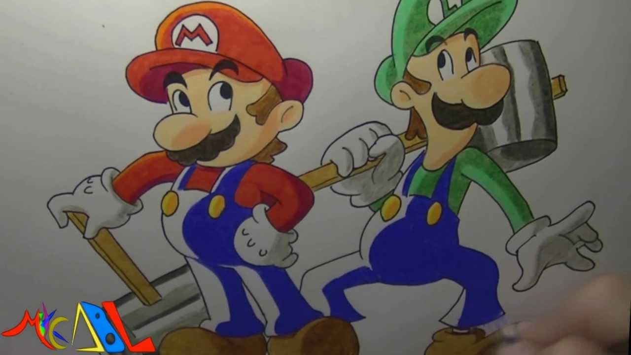 Dibujando a Mario y Luigi  YouTube