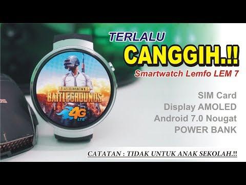 Smartwatch 4G Yang KEPINTERAN..!!Amoled, Quadcore + Power Bank..!! Review LEMFO Lem7 INDONESIA