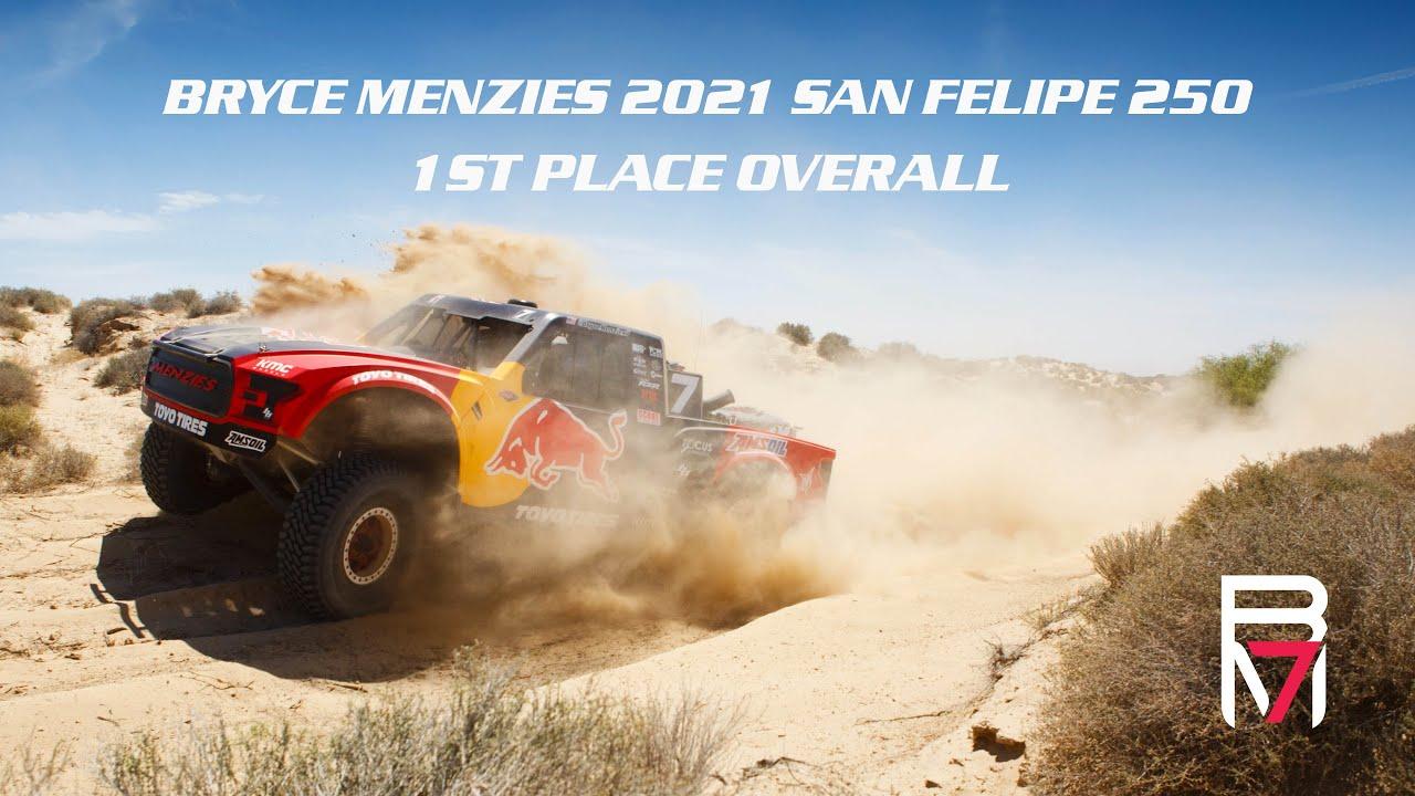 Download Bryce Menzies: 2021 San Felipe 250 WIN || 4K