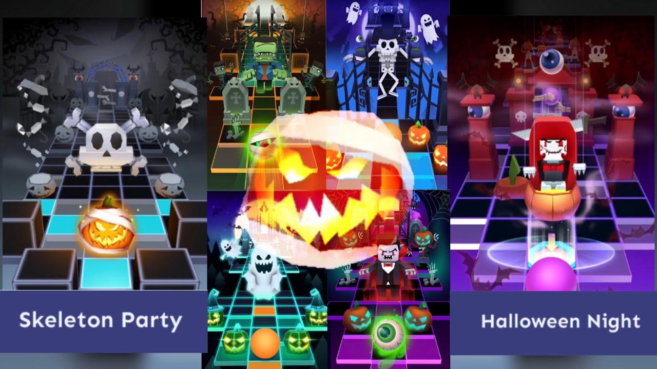 Rolling Sky Halloween Night.Rolling Sky All Halloween Levels Skeleton Party Halloween Night Etc