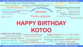 Kotoo   Languages Idiomas - Happy Birthday