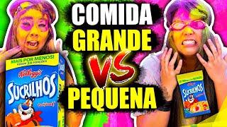 [10.99 MB] COMIDA GRANDE VS PEQUENA 2 !! com PUNIÇÃO! | Blog das irmãs