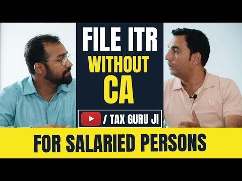 How to File ITR online (Income Tax Return for Salaried persons) ft @Tax Guru Ji