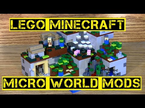 LEGO Minecraft Micro World Mods - YouTube