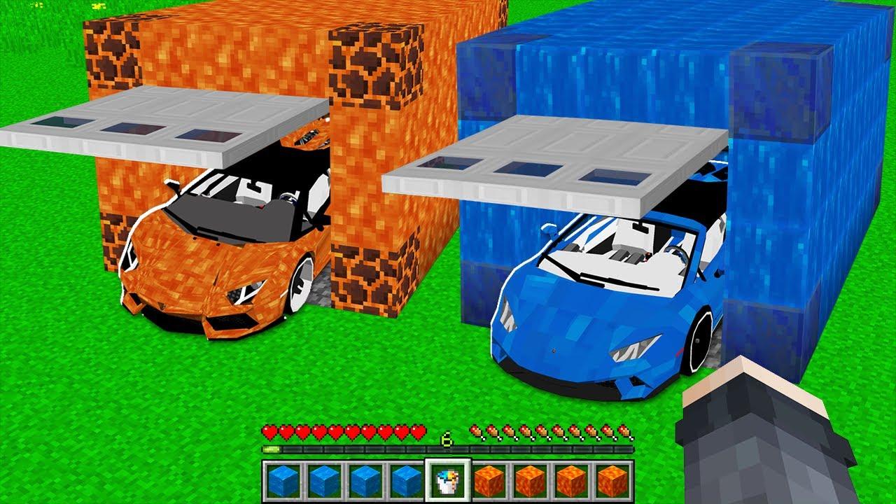 Download LAV ARABA GARAJ VS SU ARABA GARAJ 😱 - Minecraft