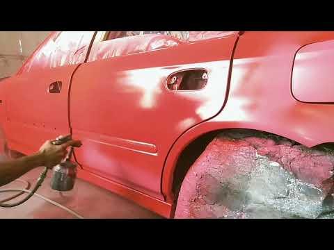 Honda Civic ej8 Sedan Red Audi Paint [Yu Auto Spray]