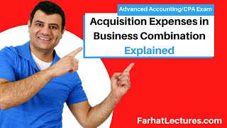 Acquisition expenses in business combination advanced accounting CPA exam ch 2 p 2