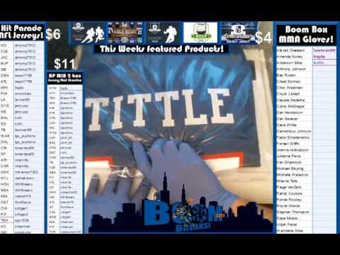 1 26 16 Hit Parade NFL jersye break Box #6 YA Tittle