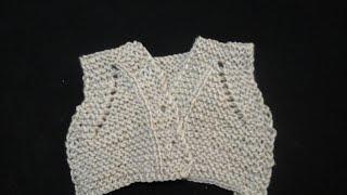 صديرى(جيليه)تريكو سهل وبسيط للاطفالEasy knitting kids bolero or vest