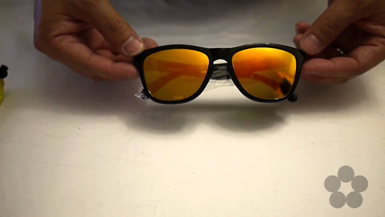 76281d1b4ef Quick Look  Frogskins® Valentino Rossi Signature Series VR 46 Sunglasses by  Oakley  24-325 - YouTube