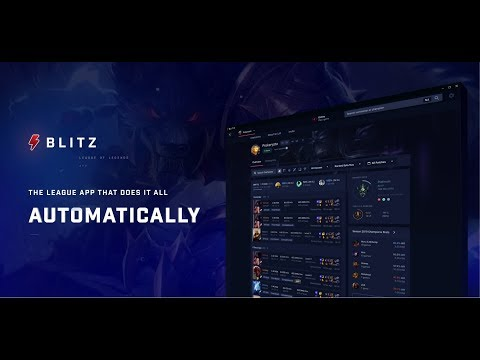 Blitz App -Otomatik Rün dizilimi -Örnek İtem dizilimi -Oyuncu istatistikleri Kurulumda çıkan hatalar
