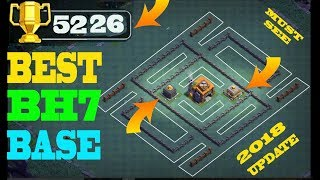 BEST BH7 BASE 2018 -EASY PUSH TROPHY PUSHER BASE | BUILDER HALL 7 BASE | WITH PROOF | CLASH OF CLANS
