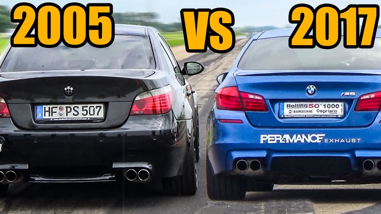 bmw m5 e60 v10 vs m5 f10 exhaust sound accelerations youtube. Black Bedroom Furniture Sets. Home Design Ideas