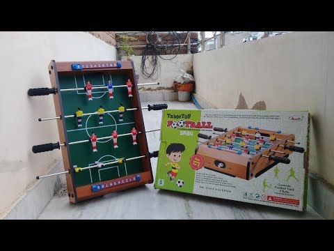 Unboxing Mini Foos Ball Table.