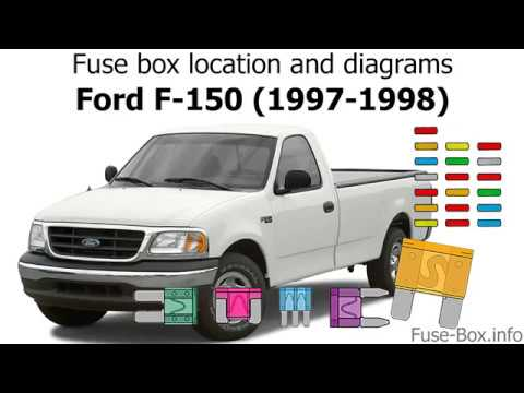 [SCHEMATICS_4FR]  Fuse box location and diagrams: Ford F-150 (1997-1998) - YouTube | 1997 Ford F150 Xlt Fuse Diagram |  | YouTube