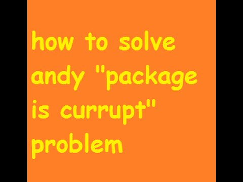 Andy Package is Corrupt Offline Installer