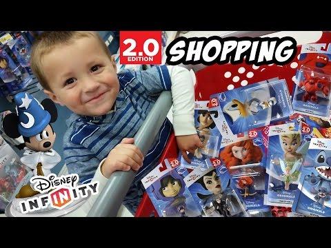 Disney Infinity Shopping w/ Chase! BAYMAX, Maleficent, Hiro + MORE 2.0 ORIGINALS! Crystal Mickey??