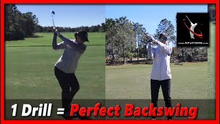 Learn the Perfect Golf Backswing in 3 Steps - RotarySwing Lesson 14