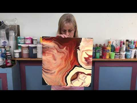 Acrylic Pour Painting: What To Do With The Back Of Your Painting!