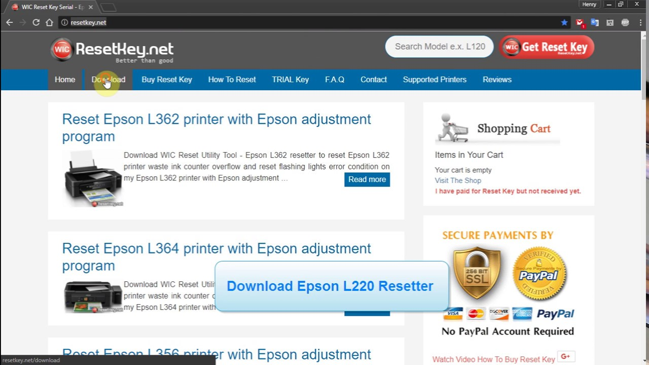 epson l220 software for pc download