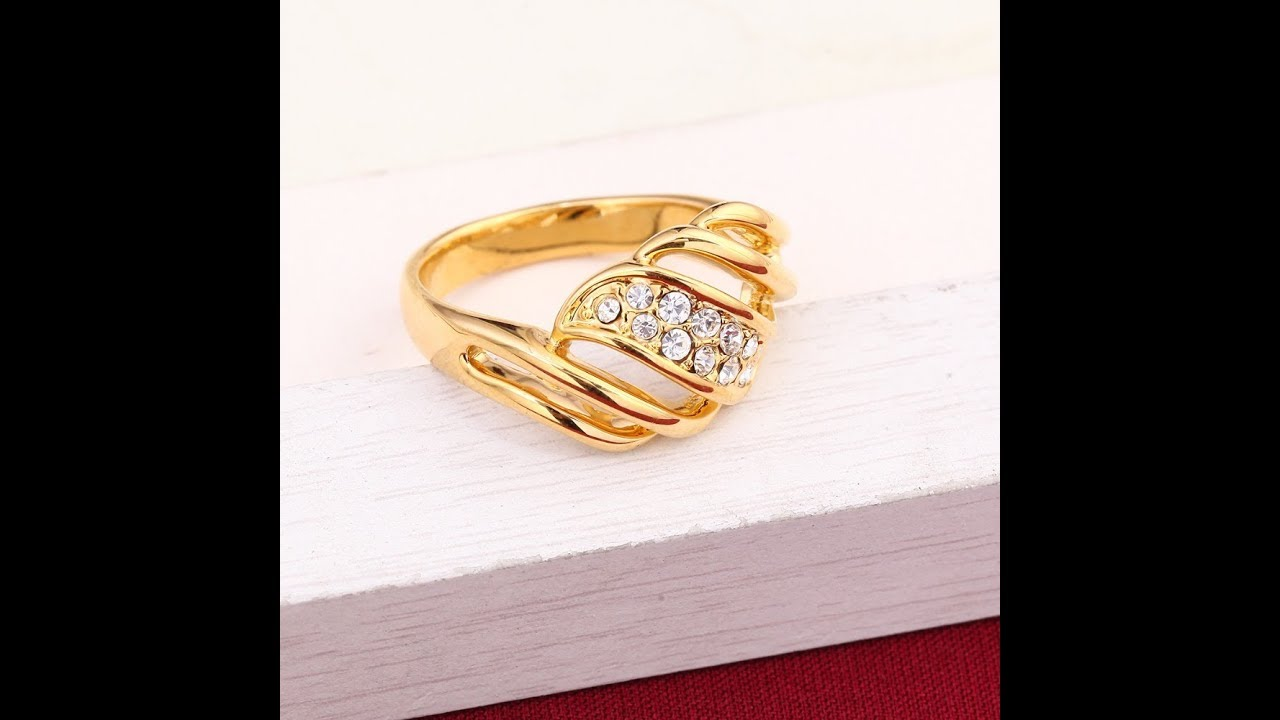 Korean Finger Rings Designs In Gold And Stone Youtube