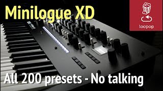 Korg Minilogue XD: All 200 Factory Presets - No talking