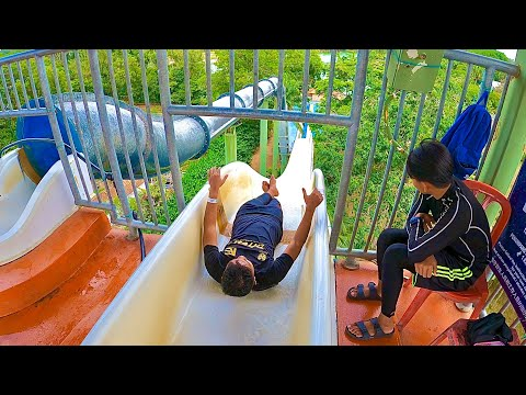 Water Slides at A'Famosa Water Park in Melaka Malaysia