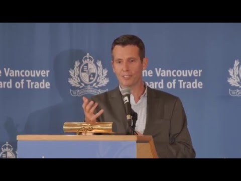Uber's Chief Advisor David Plouffe speaks to The Vancouver Board Of Trade