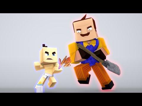 HELLO NEIGHBOR VS BEBÊ - Minecraft BedWars