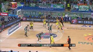 Panathinaikos 70-68 Fenerbahce Euroleague round 4