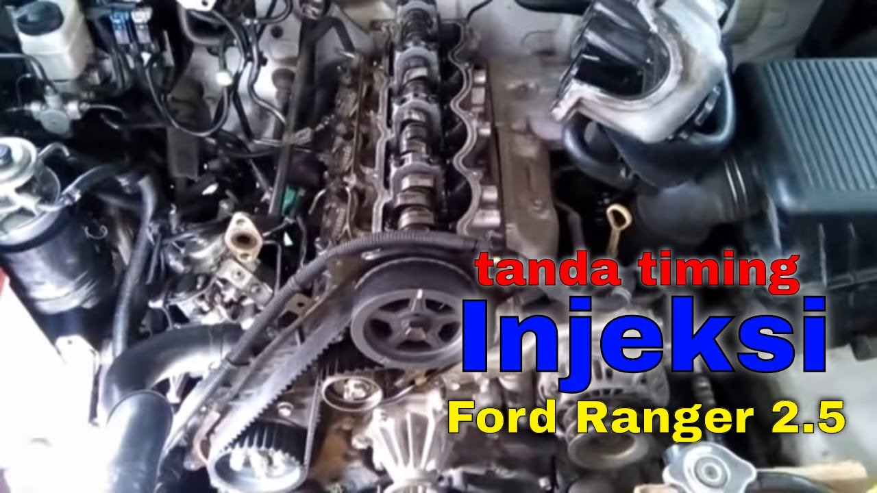 HOW TO REPAIR FORD RANGER WL ENGINE TIMING MARK AND TIMING ...