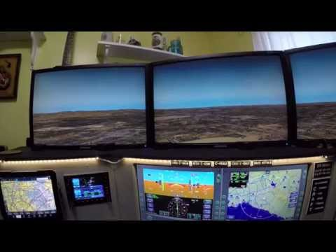 Flight Simulator IV with SimAVIO Touchscreen