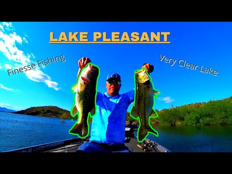 Finesse Fishing Ultra Clear Lake For Stubborn BASS (Fishing Lake Pleasant AZ)