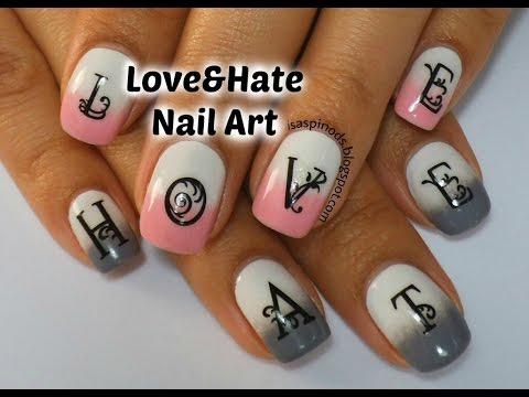 Love&Hate Nail Art