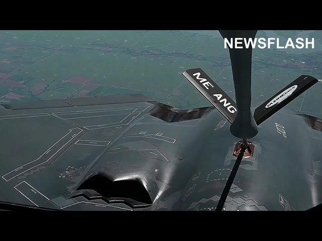 B-2 Spirit Performing Air Refueling With A Maine Air National Guard Stratotanker